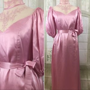 Pretty in Pink 80's Prom Dress Vintage Size S